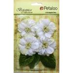 Petaloo - Vintage Velvet Peonies x 4 - White