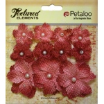 Petaloo - Mini Burlap x 11 - Antique Red