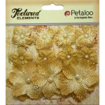 Petaloo - Mini Burlap x 11 - Antique Gold