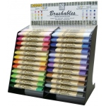 Zig®  Brushables® Marker Display Assortment; Color: Multi; Double-Ended: Yes; Ink Type: Pigment, Water-Based; Tip Type: Brush Nib; (model MS-7700/DP12D), price per each