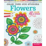 Design Originals - Color Your Own Stickers Flowers Coloring Book