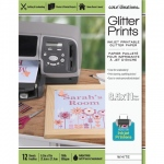 Glitter Prints - Inkjet Printable Glitter Paper - 8.5x11 Silver