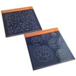 Claritystamp - Blooming Peonies & Sprig Pattern Groovi Plates Set