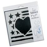 Claritystamp - American Love Stencil 7x7 Inches