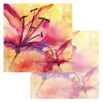 Ken Oliver - Watercolor Florals - Watercolor Tiger Lilies 12x12 Paper