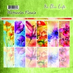 Ken Oliver - Watercolor Florals - 12x12 Collection Pack