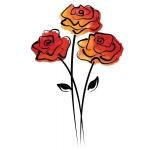Rubbernecker Stamps - Rose Trio Stamp Set