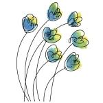 Rubbernecker Stamps - Breezy Flowers Stamp Set