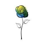 Rubbernecker Stamps - Sketch Flower Stamp Set