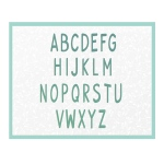 Couture Creations - Alpha Numeric - Smooth Uppercase Die