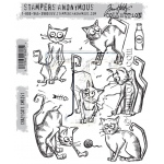 Stampers Anonymous - Tim Holtz - Crazy Cats Stamps