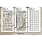 Stampers Anonymous - Tim Holtz - Stencil - Mini Stencil Set #1