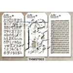 Stampers Anonymous - Tim Holtz - Stencil - Mini Stencil Set #3