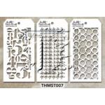 Stampers Anonymous - Tim Holtz - Stencil - Mini Stencil Set #7