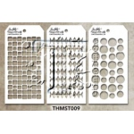 Stampers Anonymous - Tim Holtz - Stencil - Mini Stencil Set #9