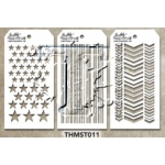 Stampers Anonymous - Tim Holtz - Stencil - Mini Stencil Set #11