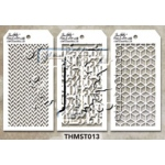 Stampers Anonymous - Tim Holtz - Stencil - Mini Stencil Set #13