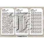 Stampers Anonymous - Tim Holtz - Stencil - Mini Stencil Set #14