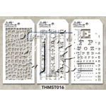 Stampers Anonymous - Tim Holtz - Stencil - Mini Stencil Set #16