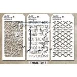 Stampers Anonymous - Tim Holtz - Stencil - Mini Stencil Set #17