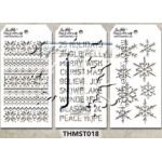 Stampers Anonymous - Tim Holtz - Stencil - Mini Stencil Set #18