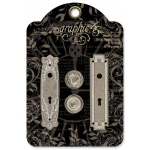 Graphic 45 - Staples - Shabby Chic Metal Door Plates & Knobs