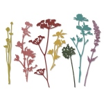 Sizzix - Tim Holtz Alterations - Thinlits - Wildflowers Die Set 7 Pack