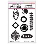 Ranger - Dina Wakley Media - Cling Stamps - Funky Journal Shapes
