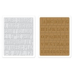 Sizzix Tim Holtz Embossing Folders Set: Subway and Stencil