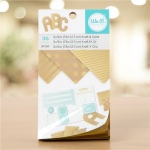 We R Memory Keepers - Paper Pad - 3 x 5 - Kraft With Gold Foil - 36 Sheets
