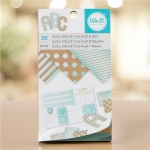 We R Memory Keepers - Paper Pad - 3 x 5 - Kraft With Mint Foil - 36 Sheets