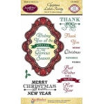 JustRite Christmas Labels Twenty Clear Stamps