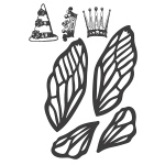 Spellbinders - Stamps - Donna Salazar - Art Doll Accessories B