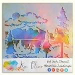 Ken Oliver - Stencil - 6x6 - Mountain Landscape