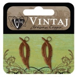 Vintaj Artisan Copper: Open Leaf