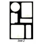 Heidi Swapp Journaling Spots: Love 2