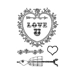 Marion Smith Designs Stamp Set: Love U, 3 x 4