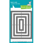 Lawn Fawn - Lawn Cuts - Small Cross Stitched Rectangle Stackables Dies