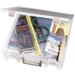 "ArtBin Super Satchel: 1 Compartment, Translucent Clear, 15.25"" x 14"" x 3.5"""