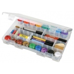 "ArtBin Solutions Large Box:  4 Compartment, Translucent, 14.125"" x 9"" x 2"""