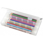 "ArtBin Solutions™ Long 3-Compartment Box: Translucent, 9.125"" x 5"" x 1.375"""