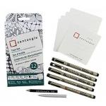 Sakura of America -Zentangle - Tiles - White - 3.5 - 12 Pack