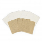 Spellbinders - Platinum Pack 1 -  6x6 Burlap & Canvas Sheets - 9 Pieces