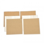Spellbinders - Platinum Pack 5 - 6x6 Cork, Corrugated Cardboard & Balsa Wood Sheets - 6 Pieces