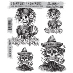 Stampers Anonymous - Tim Holtz - Day Of The Dead #1 Stamps
