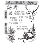 Stampers Anonymous - Tim Holtz - Scribble Woodland Stamps