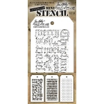 Stampers Anonymous - Tim Holtz - Mini Stencil Set #20