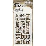 Stampers Anonymous - Tim Holtz - Halloween Script Stencil