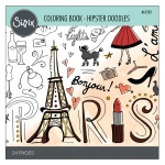 Sizzix - Coloring Book - Hipster Doodles by Lindsey Serata