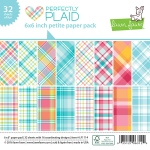 Lawn Fawn - Perfectly Plaid Winter - Petite Paper Pack 6x6